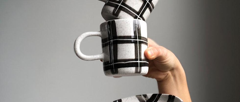 Taka Tartan Tea & Toast Set