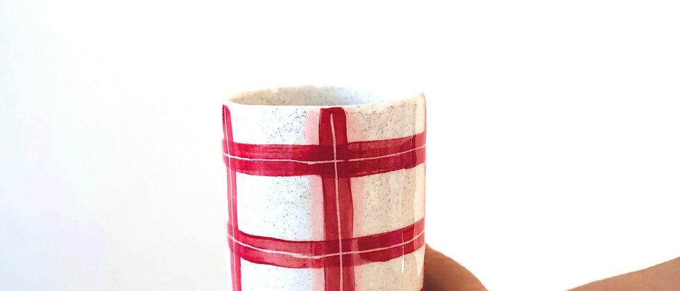 Grannie Tartan Utensil Jar