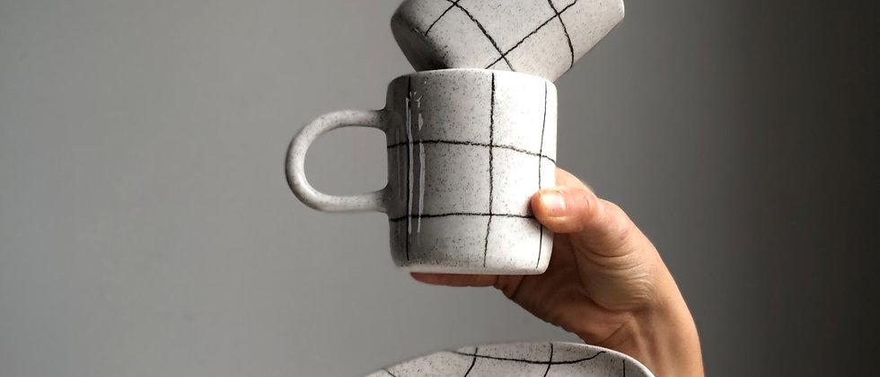 Pencil Grid Tea & Toast Set