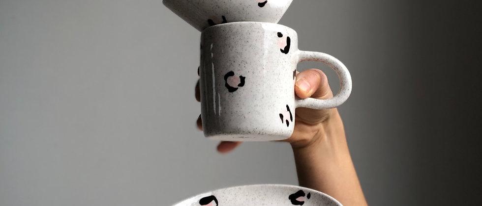 Pink Leopard Tea & Toast Set
