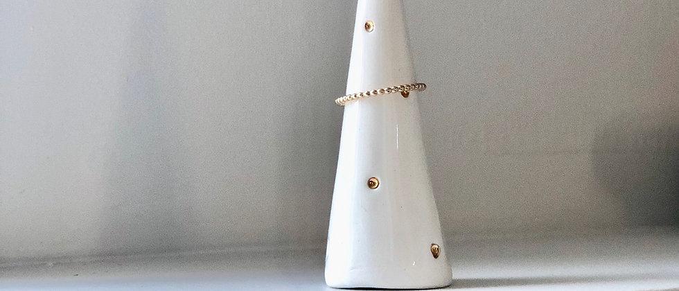White Dotty Ring Cone