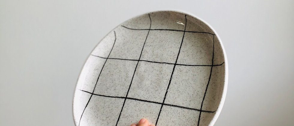 Sand Grid Breakfast Plate