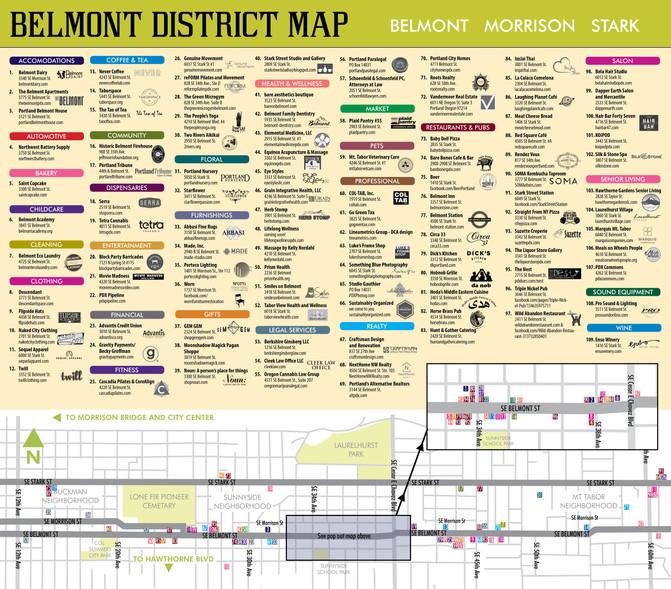 Belmont District Walking map 2017
