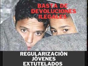 Concentración  para exigir la protección de los derechos de la infancia migrante