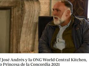 José Andres y su World Central Kitchen premiados con el Premio Princesa de Asturias de la Concordia