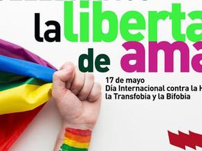 17 de mayo. Día Internacional contra la homofobia, la transfobia y la bifofia