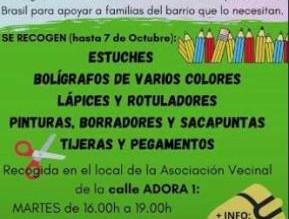 7/10/2020 Donación de material escolar a los niños de San Fermín