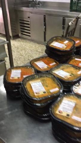 31-7-2020. Reparto de menús a iniciativa de Enagás y Delinas a total de 324 familias