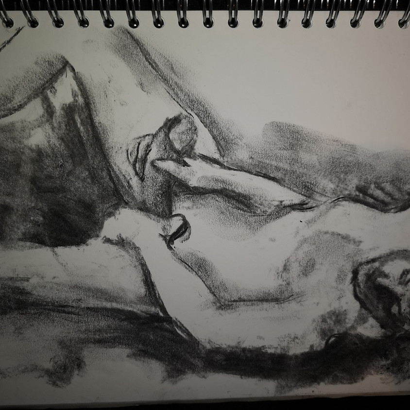Erotic drawing session
