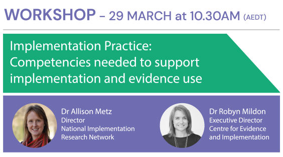 EIS Workshop - Implementation Practice -
