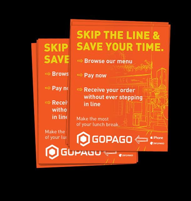GoPago hand flyers