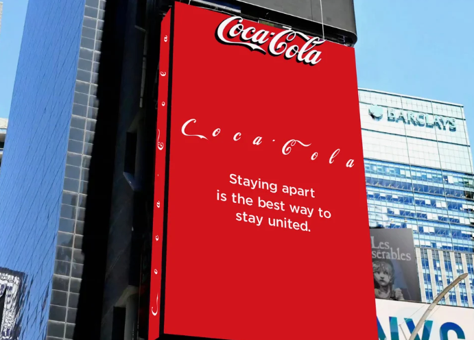 Marketing message during COVID-19 Example