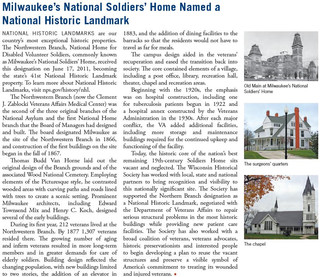 Wisconsin Historical Society features District in Spring Newsletter