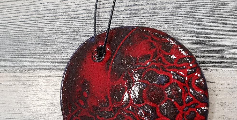 Deco sphère rouge et noir