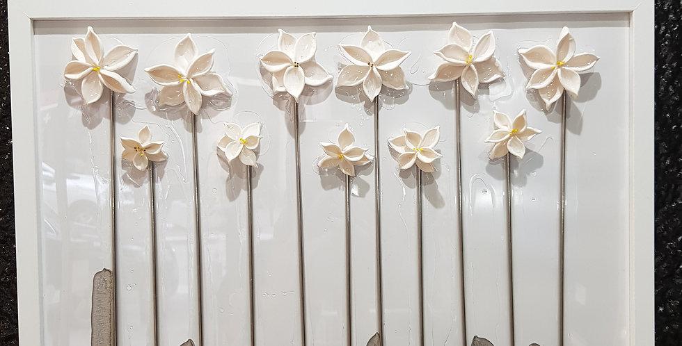 T 32x42cm fleurs au vent