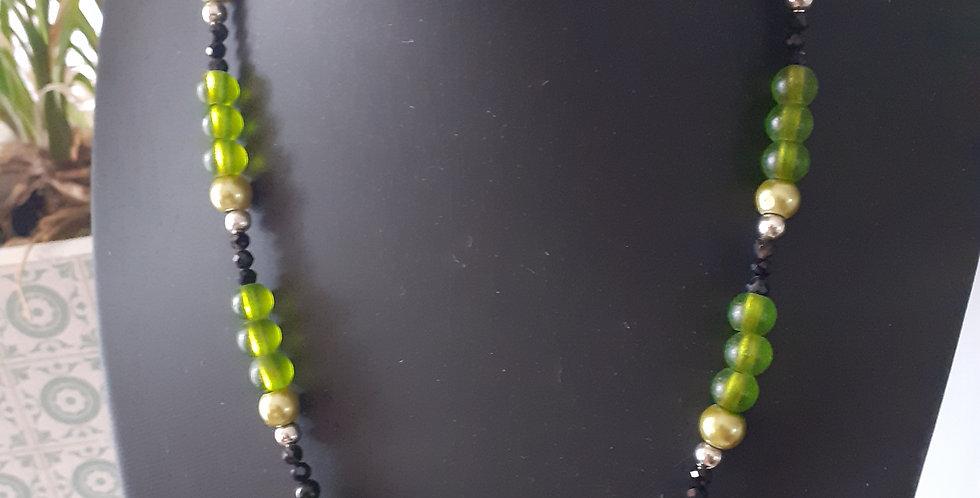Collier perle du lac céramique