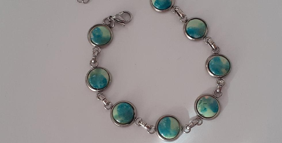 Bracelet couleur du lac céramique