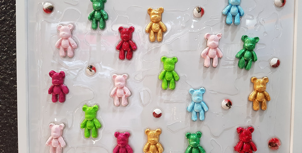 Un match de teddys 🧸🧸🧸T 32x42cm