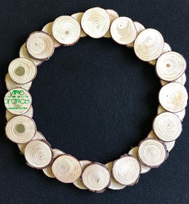 Medium Pine Wood Slice Wreath 14