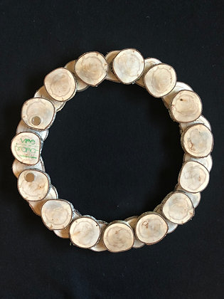 Large Rustic Birch Wood Slice Wreath 12