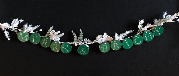 Frosted Merry & Bright Garland