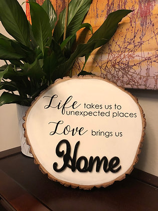 2-Sided Wood Slice Sign