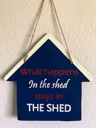 Custom shed signs