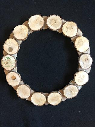 Medium Pine Wood Slice Wreath 12