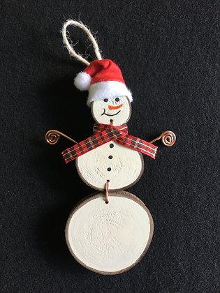 Santa Snow Man - red plaid/copper arms