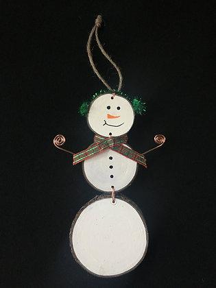 Snow Man - green ear muffs