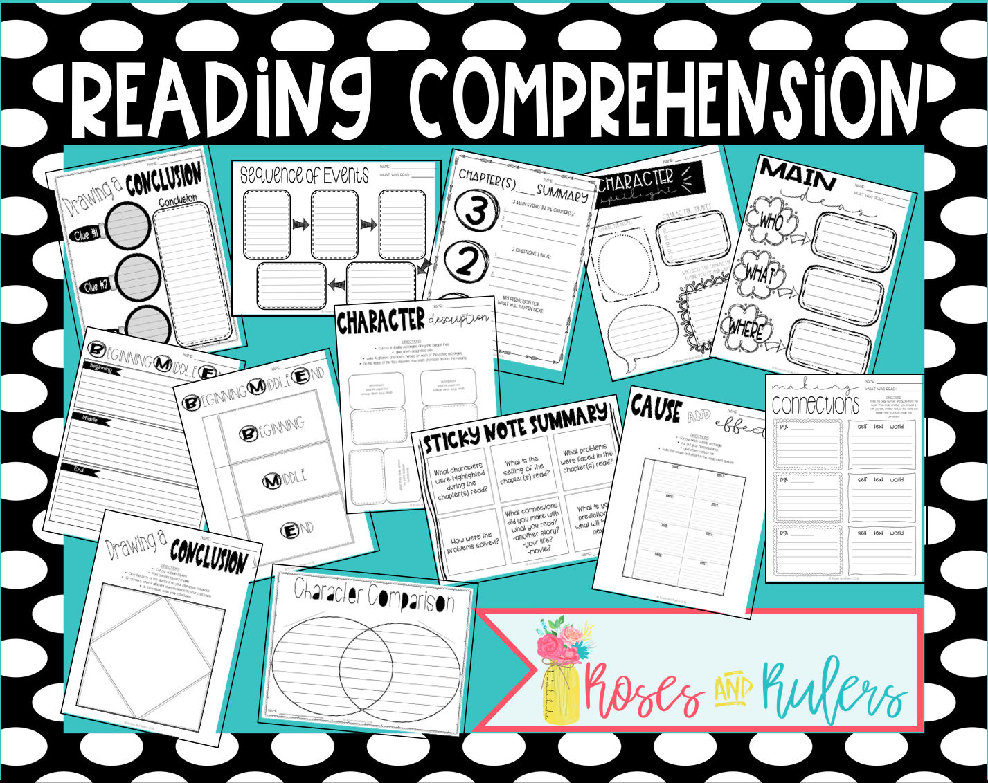 Reading Comprehension Checks- Worksheets and Interactive Notebook