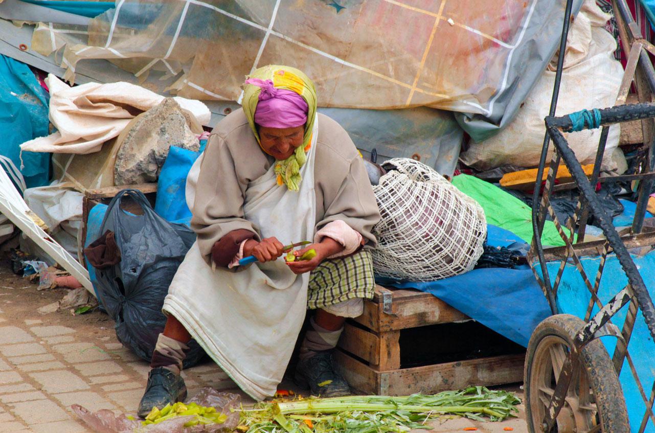 Woman Peeling
