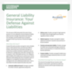 Coverage Insights - General Liability In