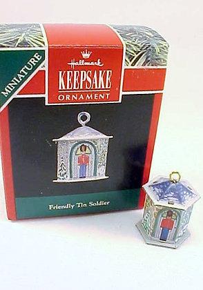Friendly Tin Soldier Hallmark Miniature