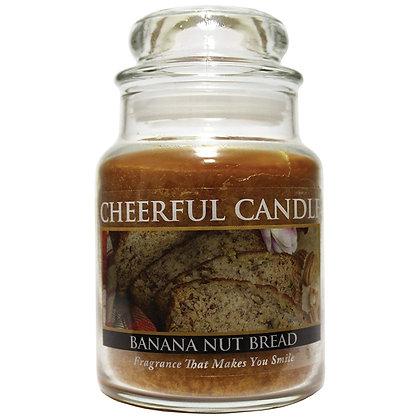 Banana Nut Bread 6 Ounce Glass Baby Jar Candle