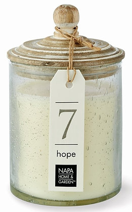 Hope Gray Oak Scented Soy Wax Candle