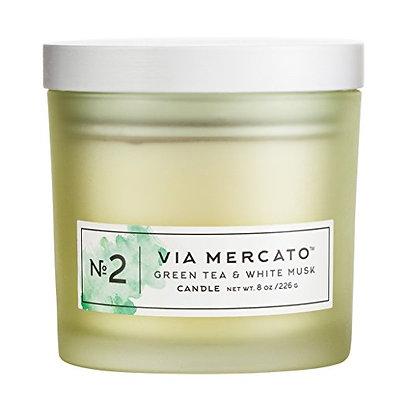 Via Mercato Candle No 2 Green Tea & White Musk