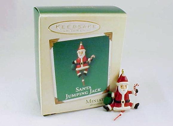 Santa Jumping Jack Hallmark Miniature