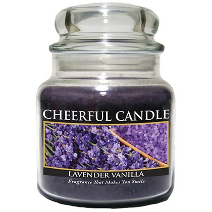 Lavender Vanilla 16 Ounce Glass Jar Candle