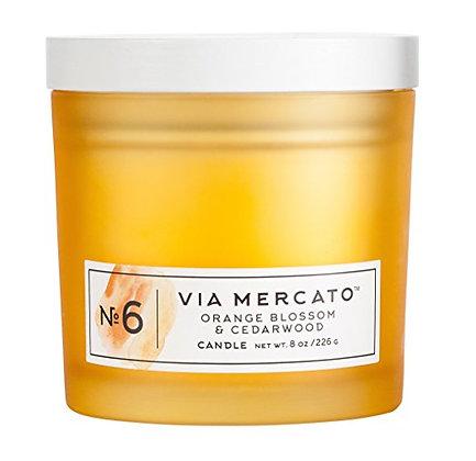 Via Mercato Candle No 6 Fig, Orange Blossom, & Cedarwood