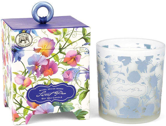 Sweet Pea 14 Ounce Keepsake Box Candle