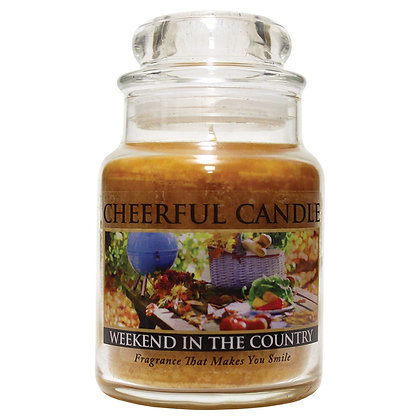 Weekend In The Country 6 Ounce Glass Baby Jar Candle