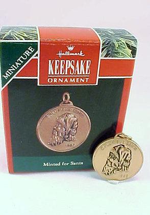 Minted For Santa Hallmark Miniature