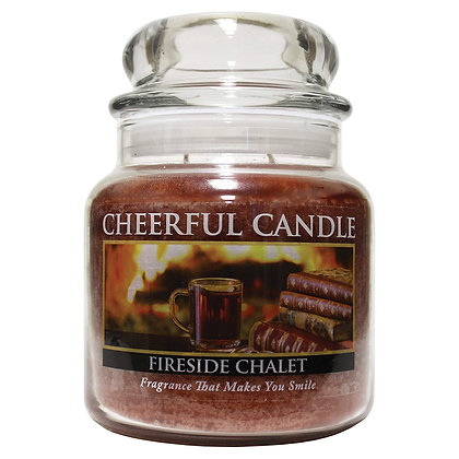 Fireside Chalet 16 Ounce Glass Jar Candle