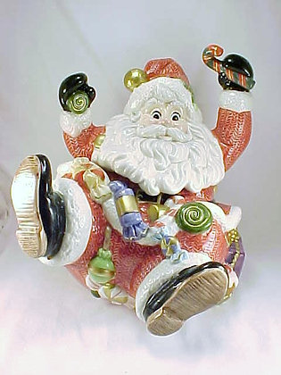 Fitz And Floyd Santa Sugar Plum Cookie Jar