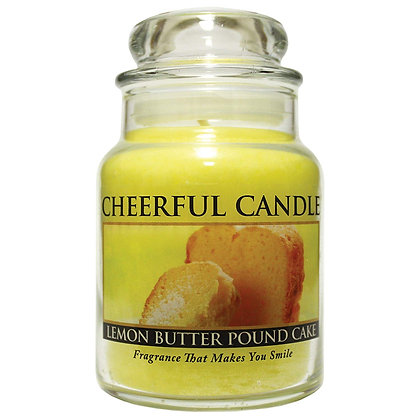 Lemon Butter Pound Cake 6 Ounce Glass Baby Jar Candle