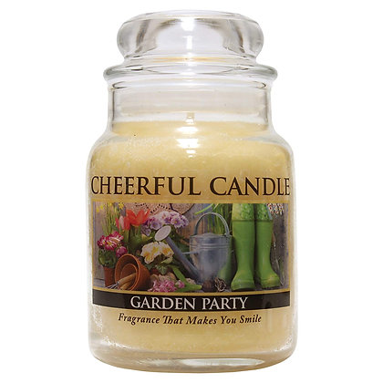 Garden Party 6 Ounce Glass Baby Jar Candle