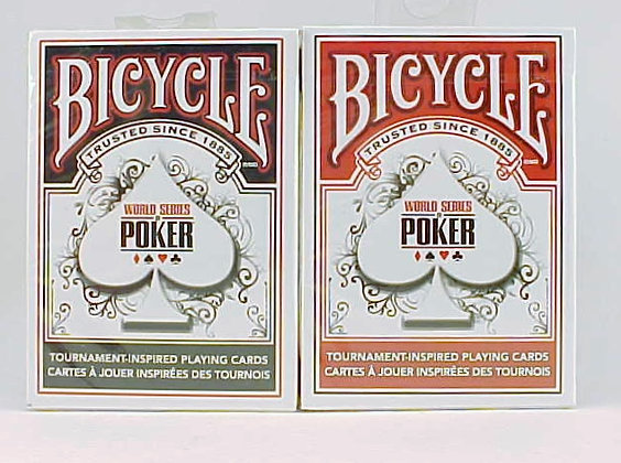 2 Decks Bicycle World Series Poker Black and Red