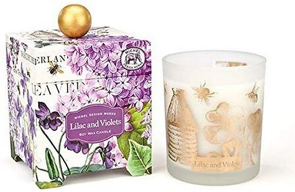 Lilacs and Violets 6.5 Ounce Keepsake Box Candle
