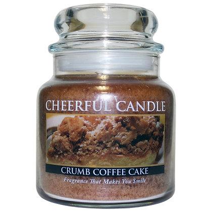 Crumb Coffee Cake 16 Ounce Glass Jar Candle